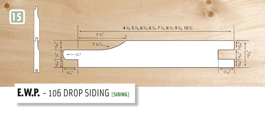 106 Drop Siding